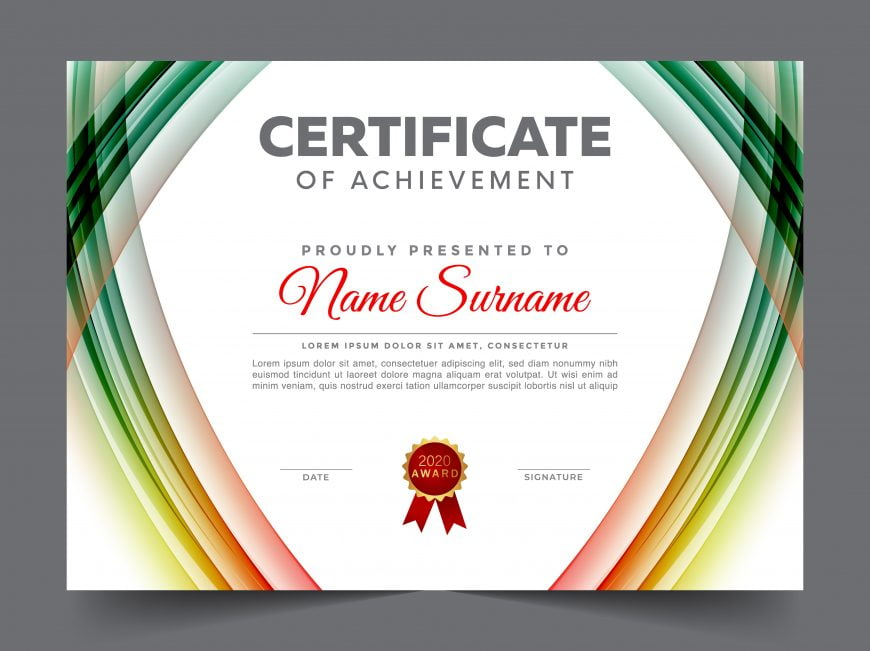 Simple Certificate Design Template