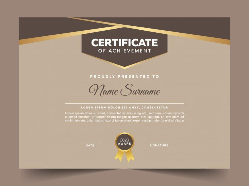Simple Editable Certificate Design