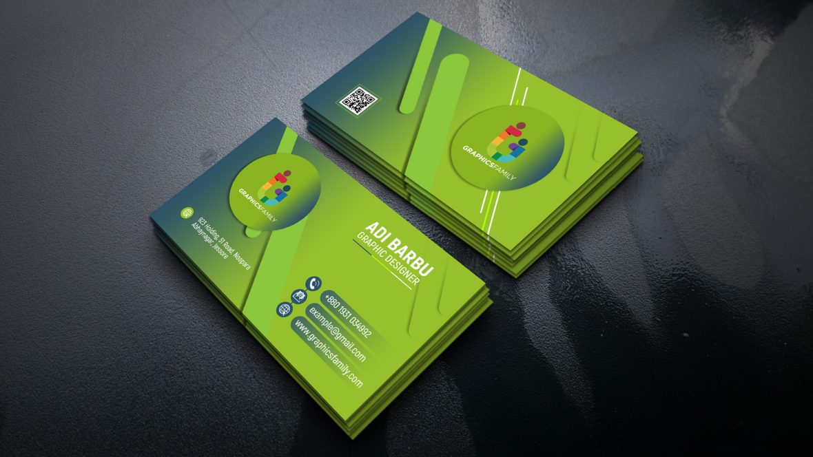 Simple Green Business Card Design