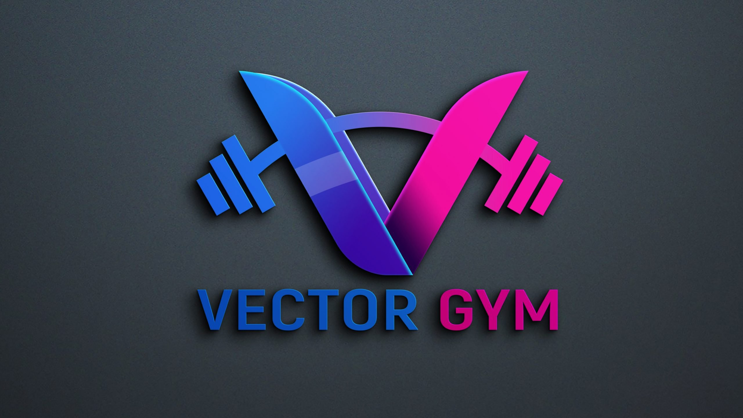 Vector Gym Logo PSD Template Download
