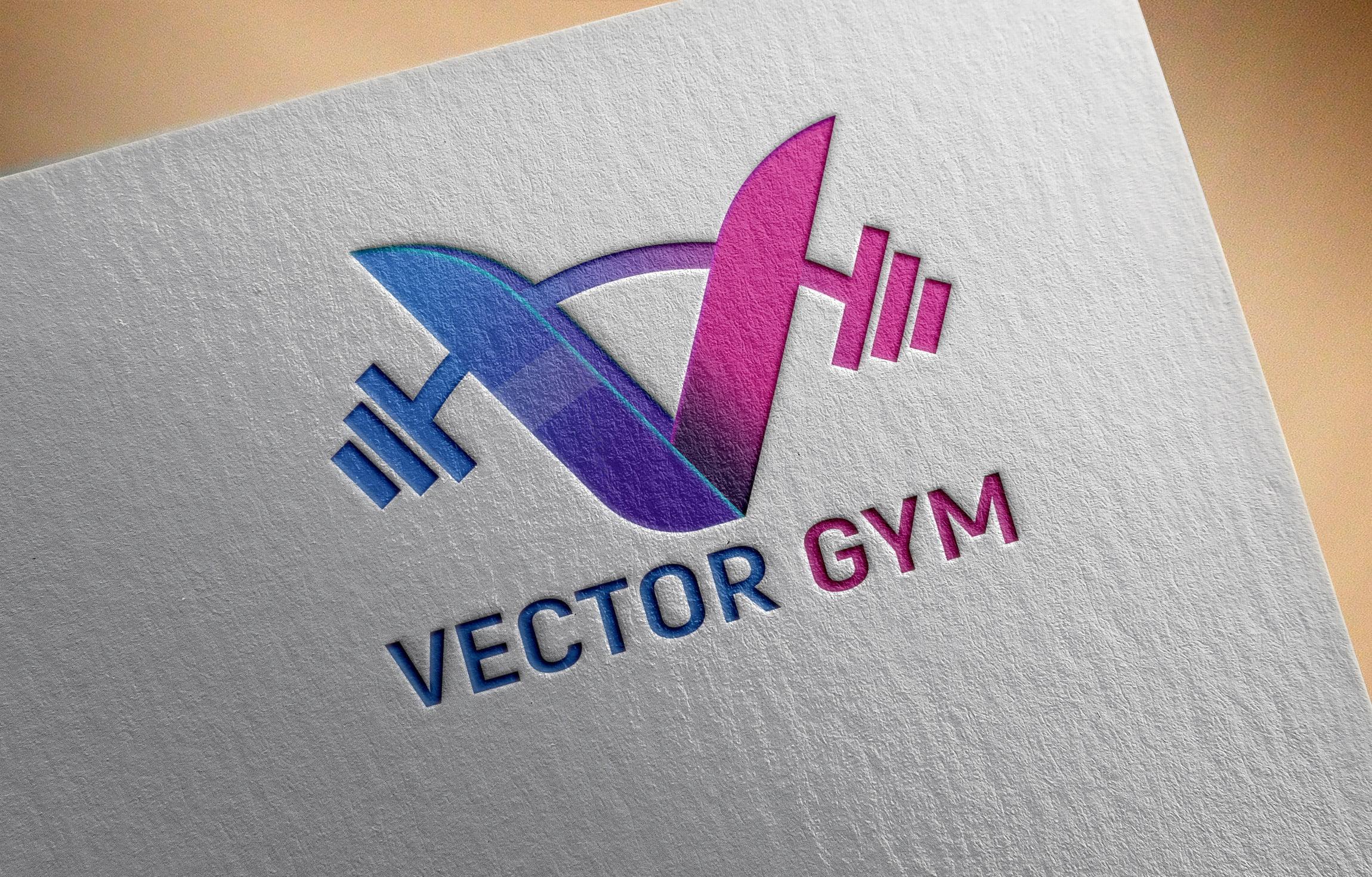 Vector Gym Logo PSD Template Free