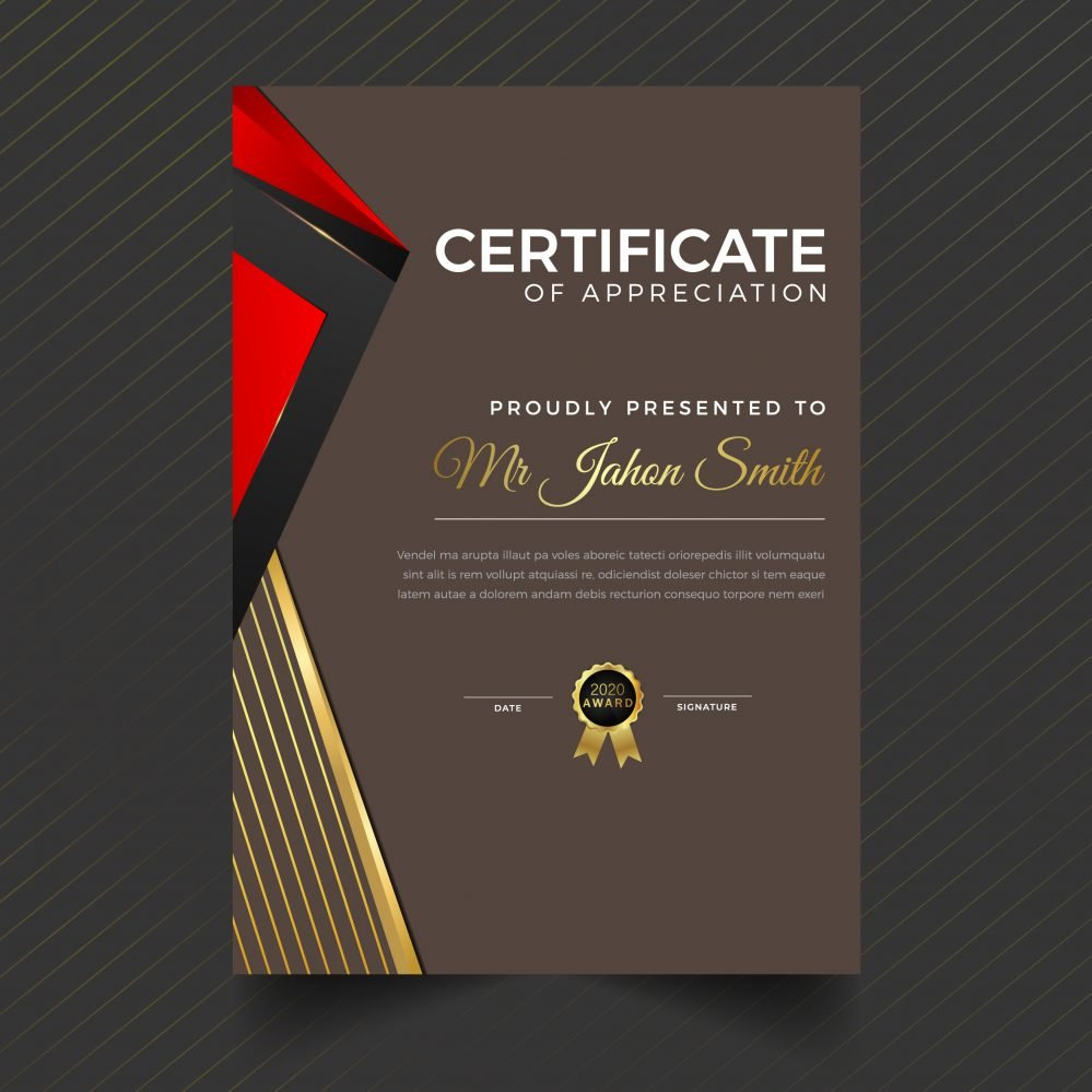Vertical Certificate Design