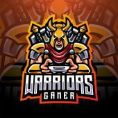 Warriors Gaming Clan Mascot Logo
