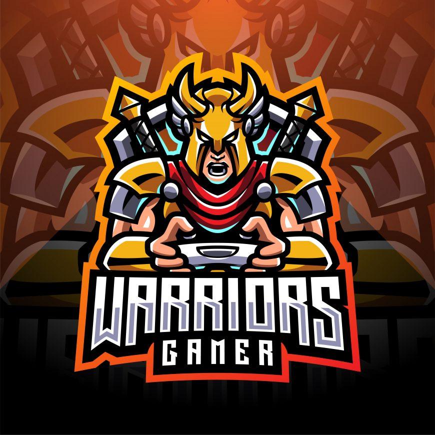 Warriors Gaming Clan Mascot Logo