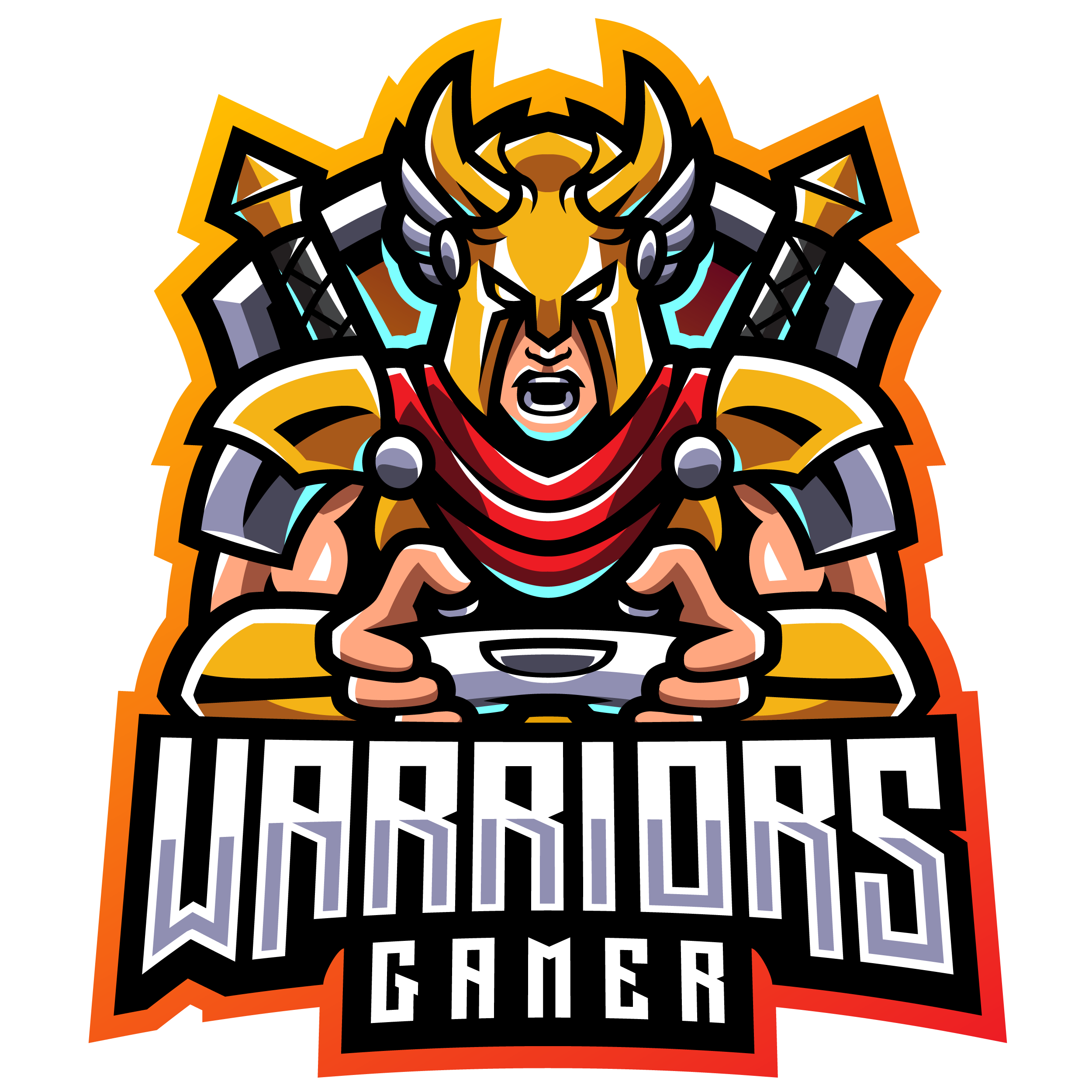 Warriors-Gaming-Clan-Mascot-Logo-PNG-Transparent