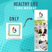 Healthy Life Logo Preview Mockup