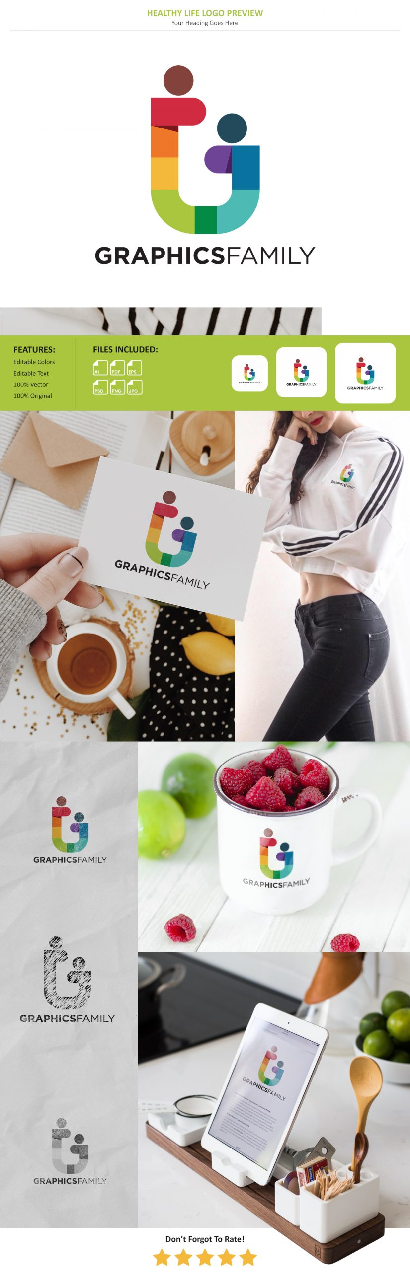 Healthy Life Logo Preview Mockup