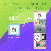 Free Retro Logo Mockup