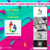 Technology Logo Mockup Template