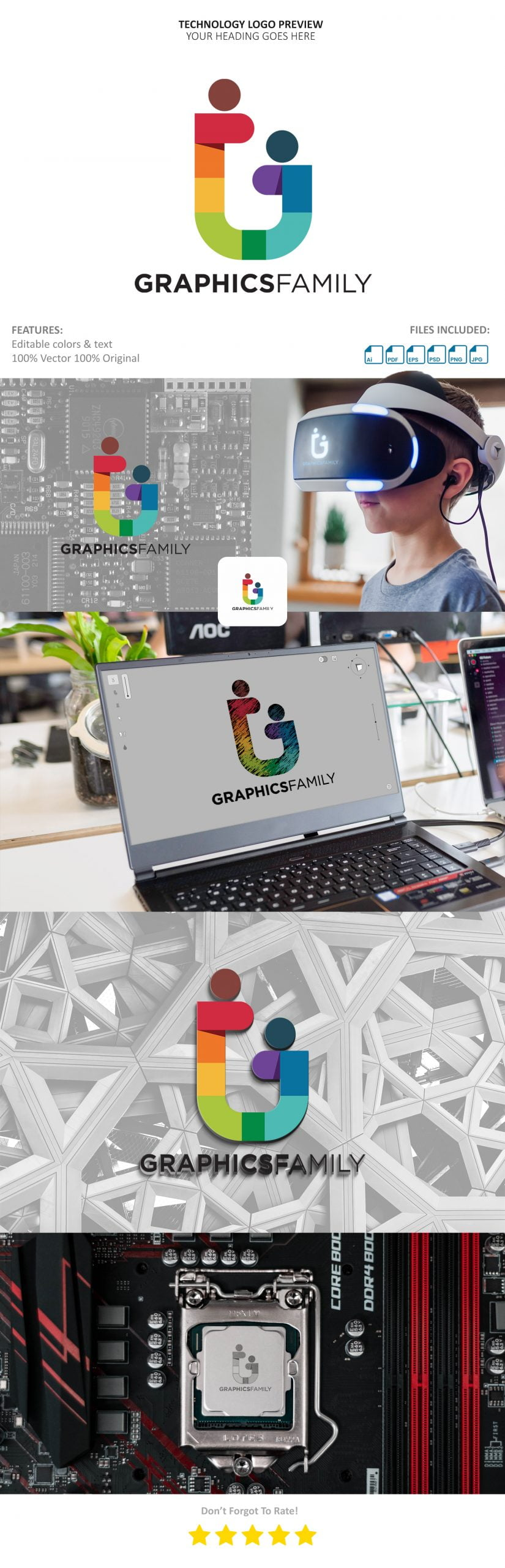 Technology Logo Preview Template