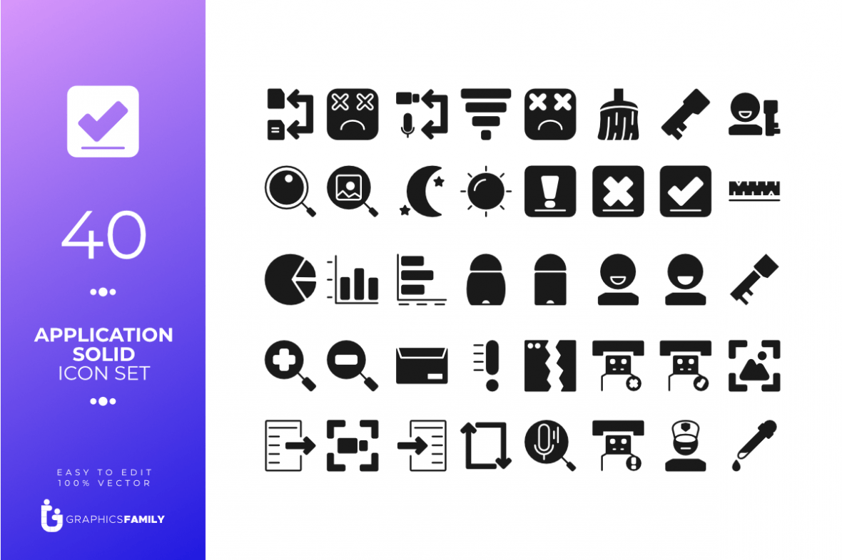 FREE APPLICATION SOLID ICON TEMPLATES