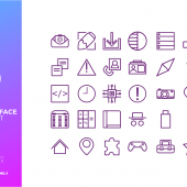30 Free User Interface Icon Pack – SVG (AI)