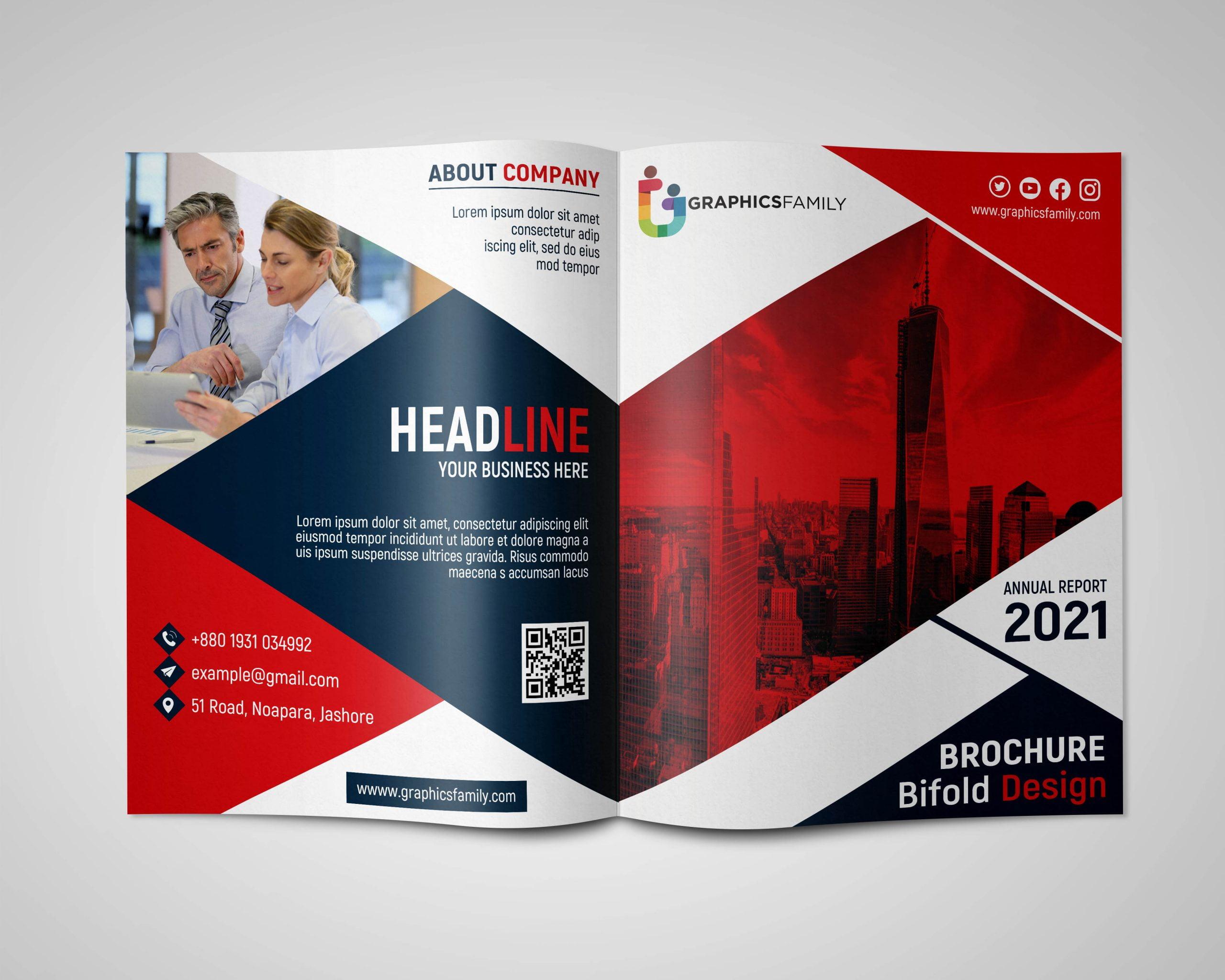Bifold Brochure Design PSD Download