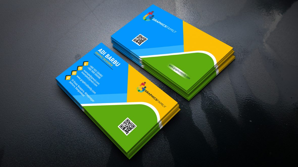 Colorful Business Visiting Card Design
