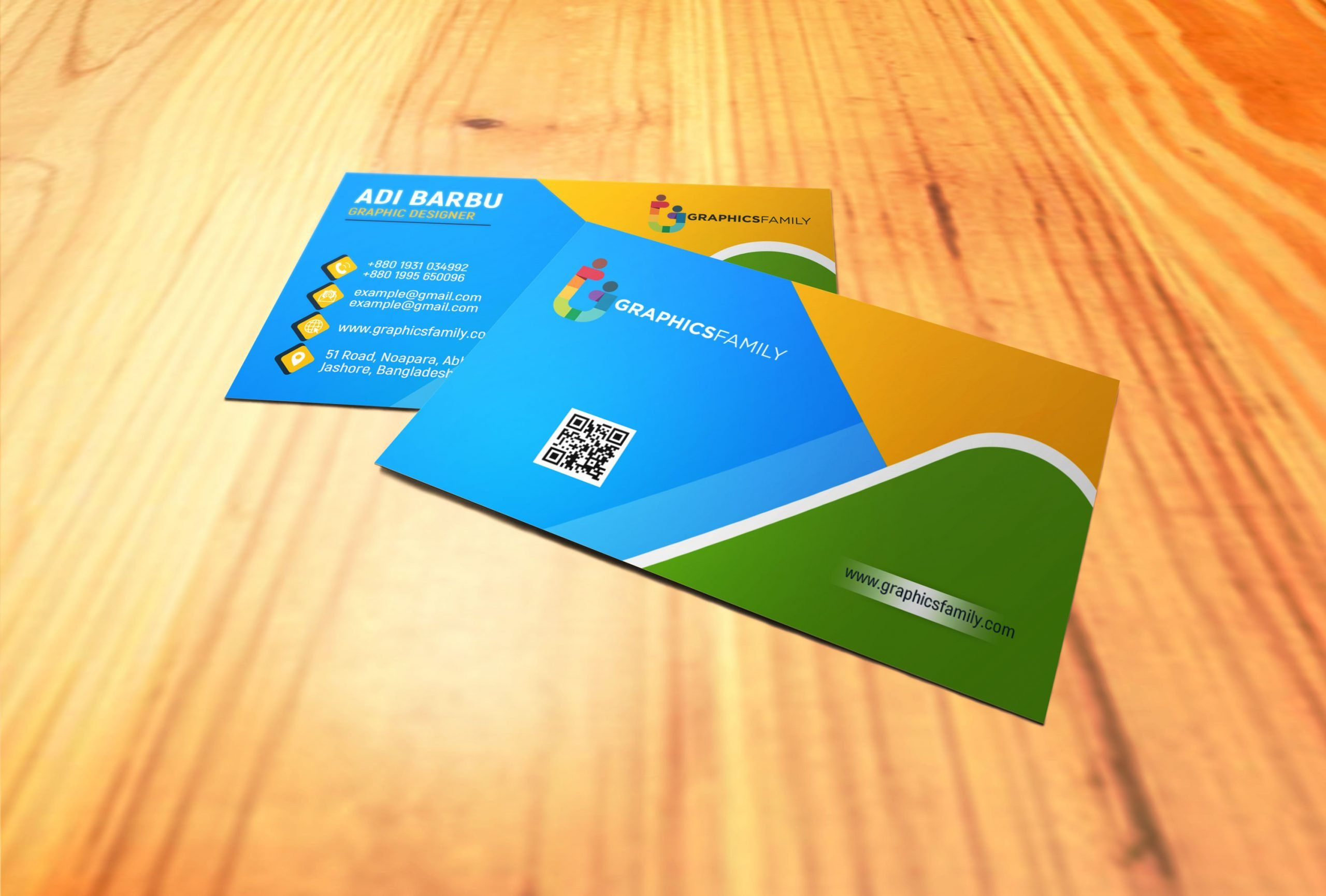 Colorful Business Visiting Card Design Download