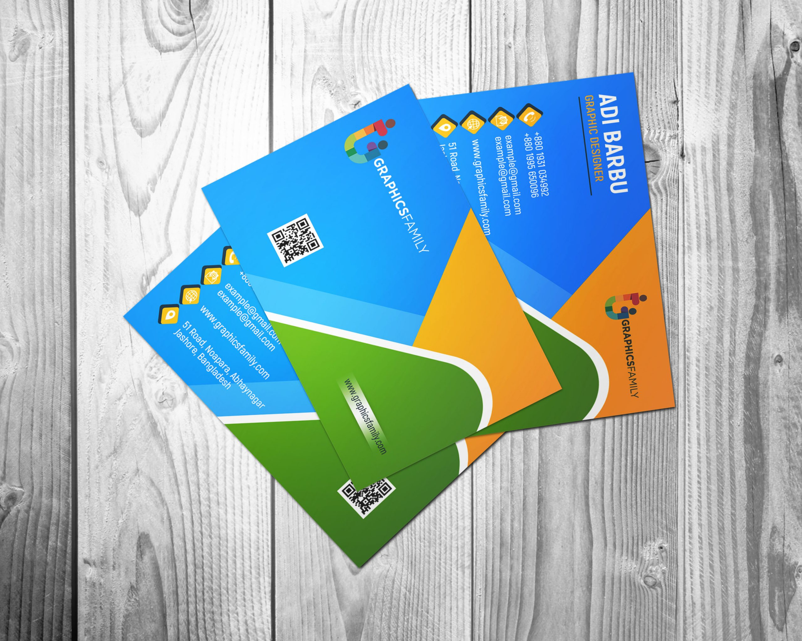 Colorful Business Visiting Card Design Free Download