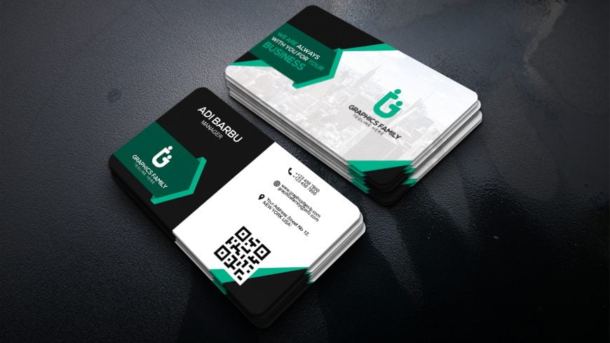 Company Manager Visiting Card PSD Template