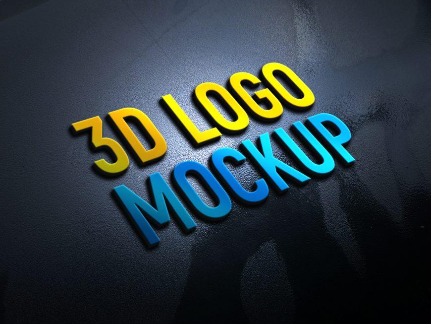 Creative 3D Logo Mockup