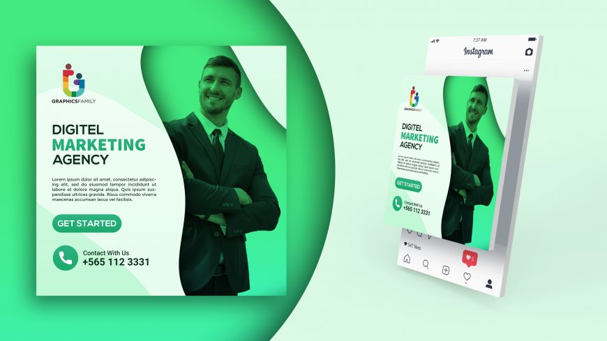 Digital Marketing Banner - Free PSD Template