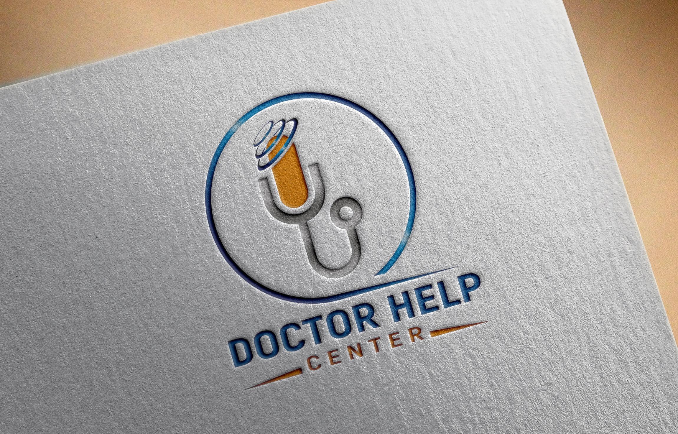 Doctor Help Center Logo Design Download