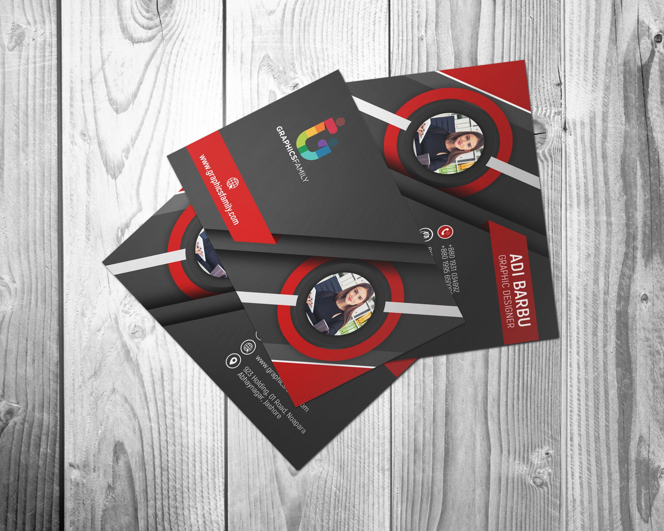 Download 3D Visiting Card Design in Photoshop