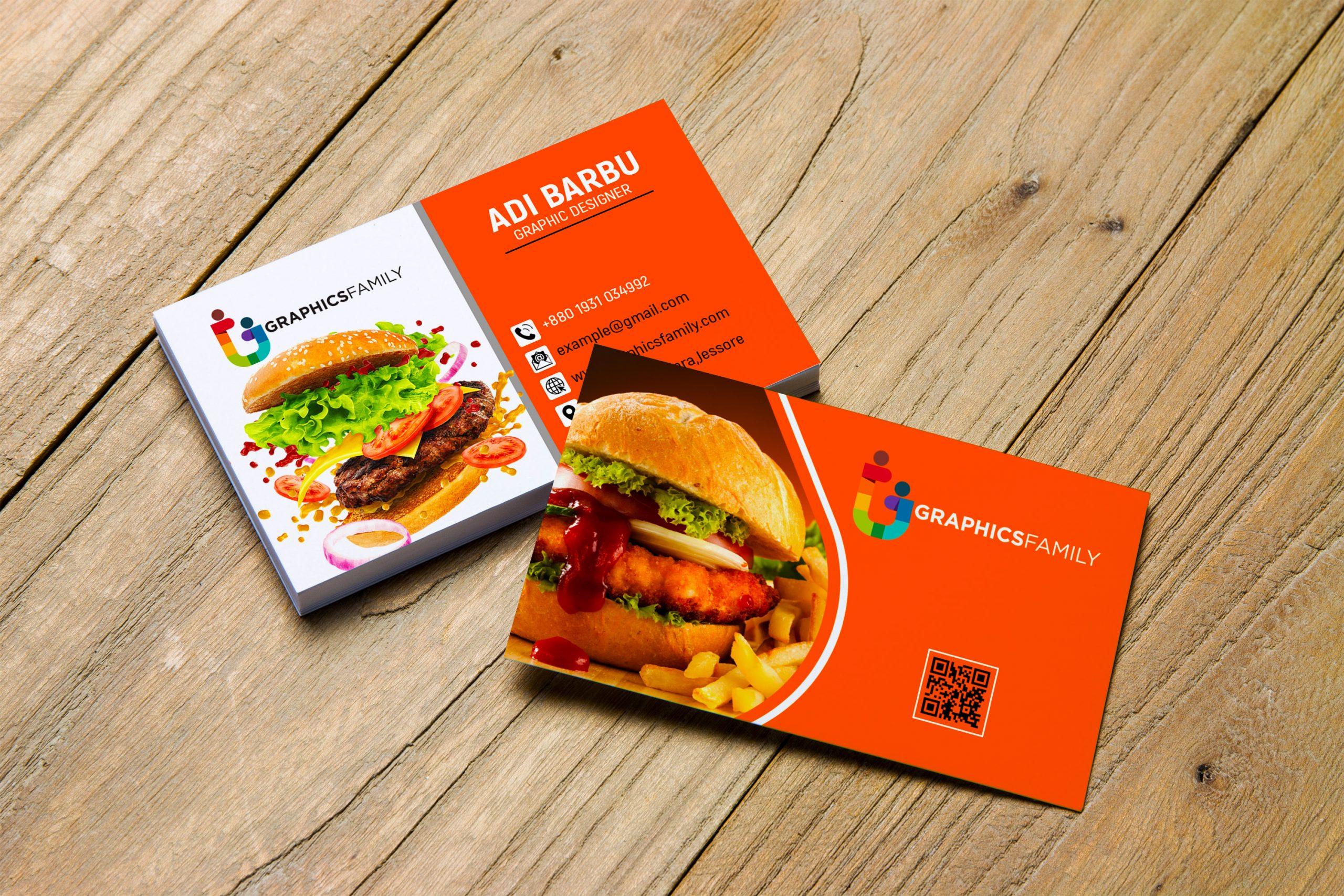 Download Food Company Visiting Card Design