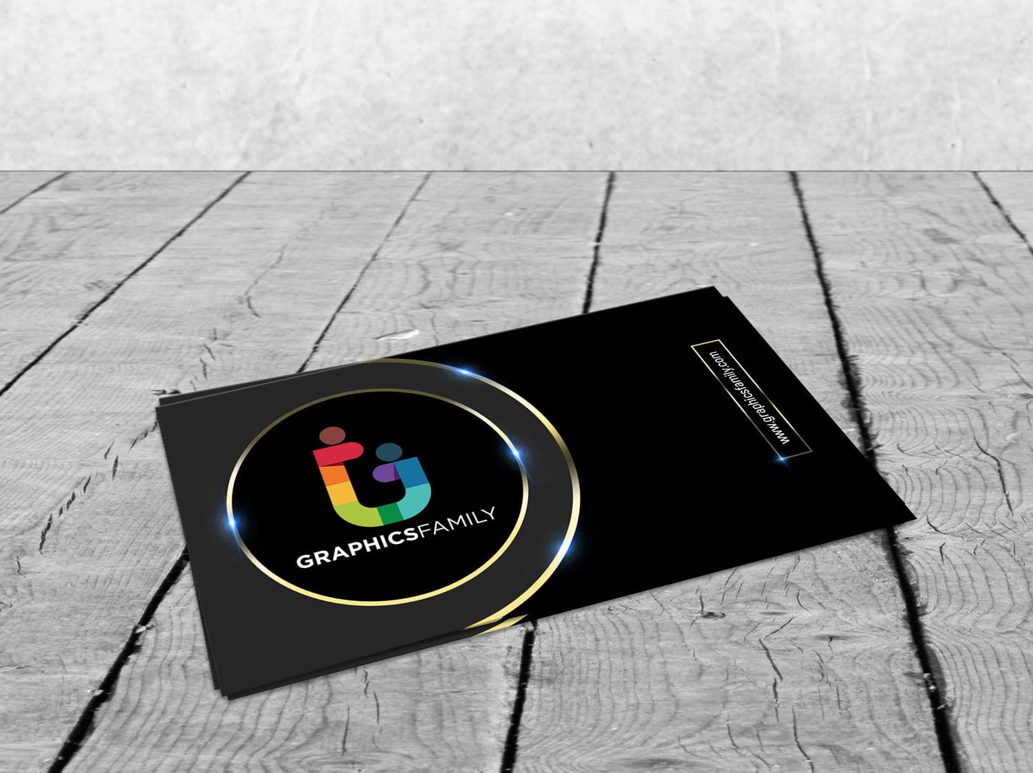 Download Gold PSD Visiting Card Design