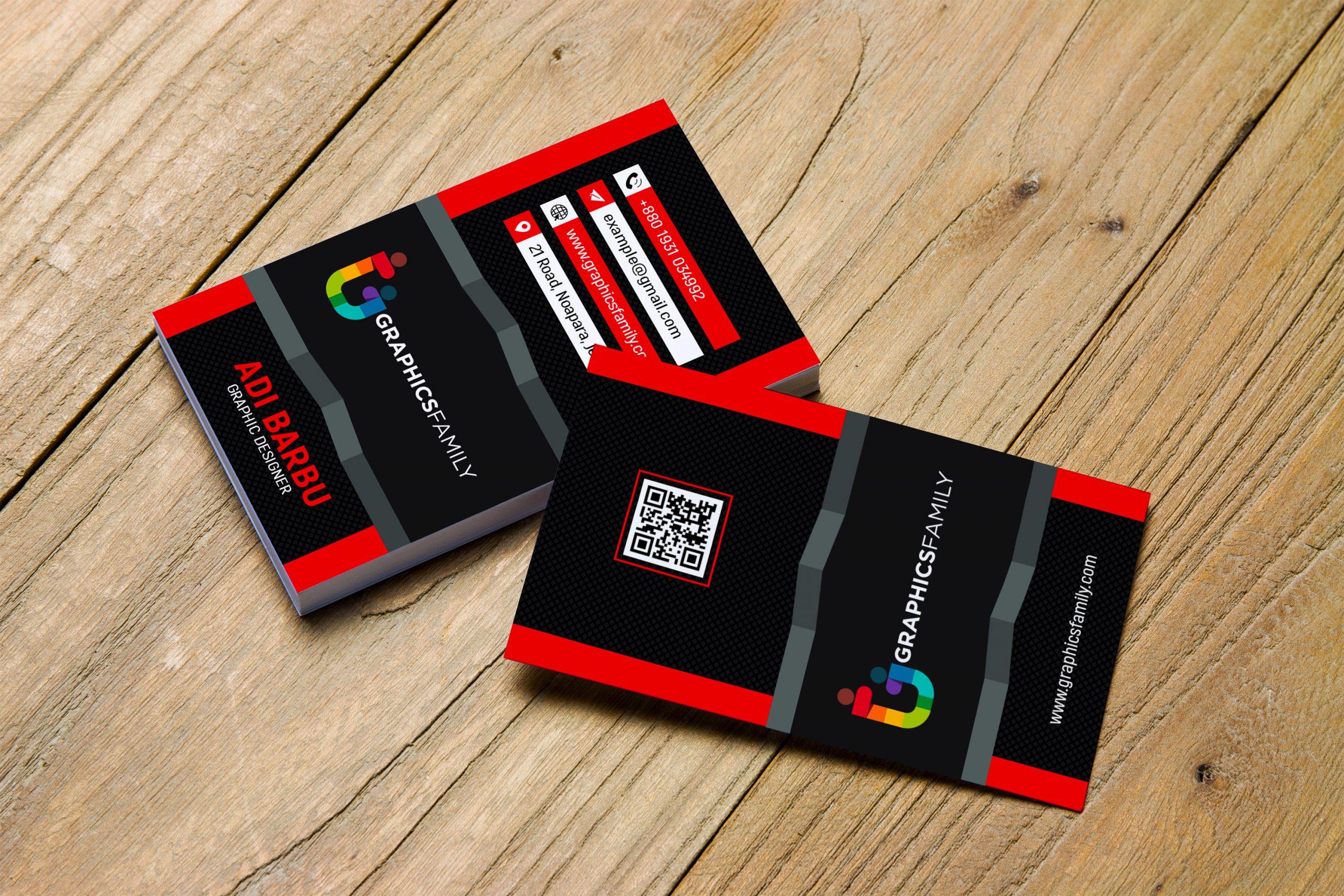 Download Modern 3D Red Visiting Card Design