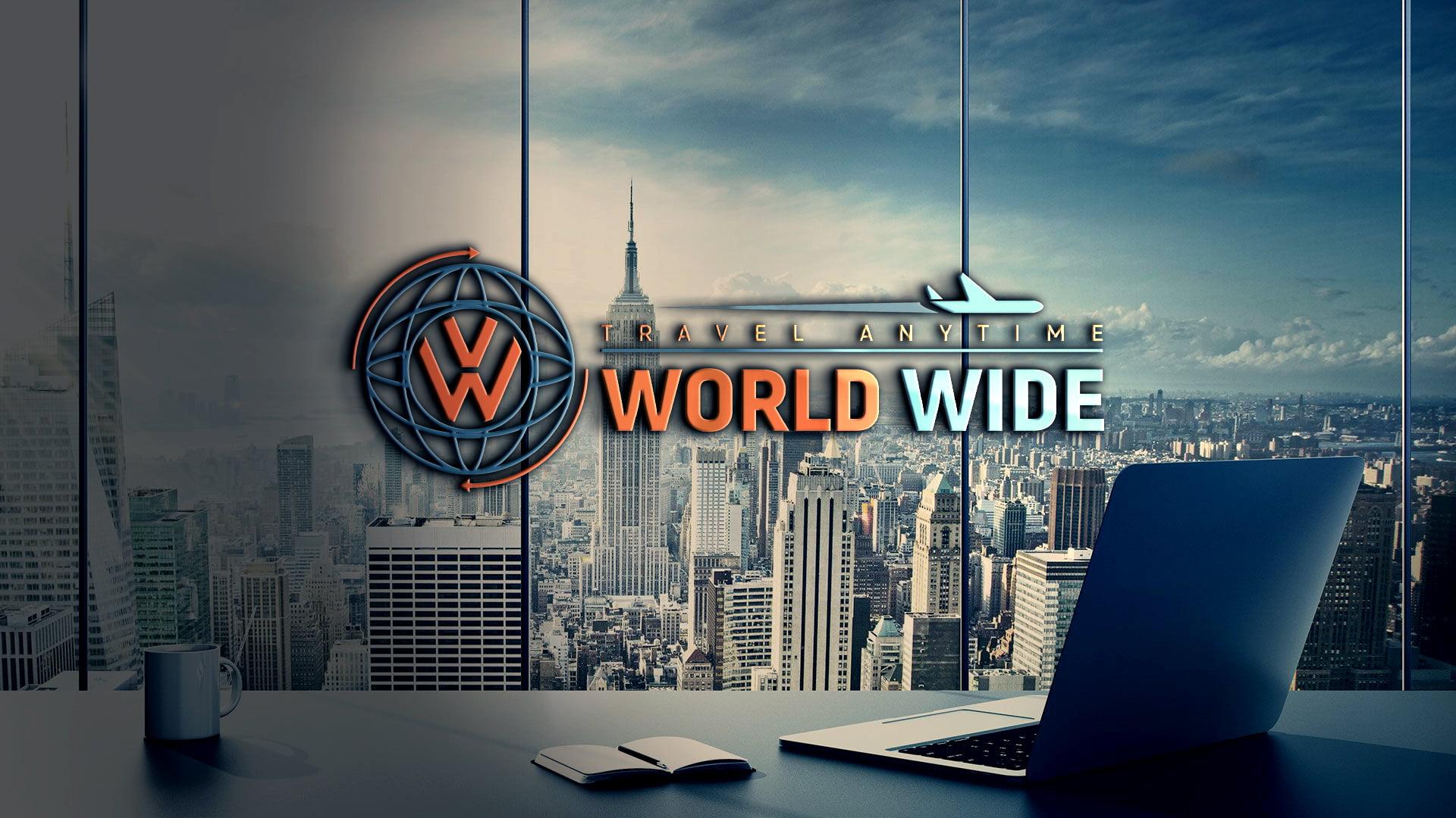 Download World Wide Travel Company Logo Design