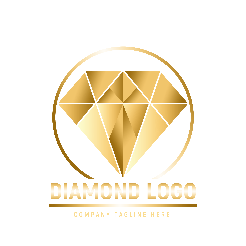 Editable Diamond Logo Design PNG transparent