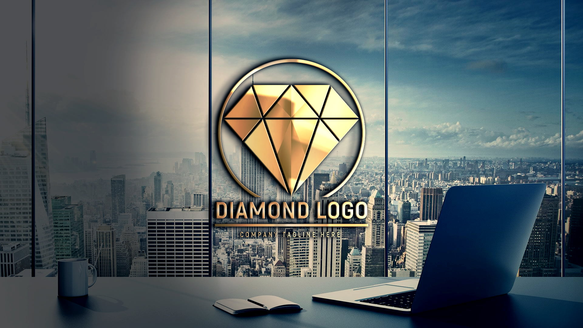 Editable Diamond Logo Design by GraphicsFamily