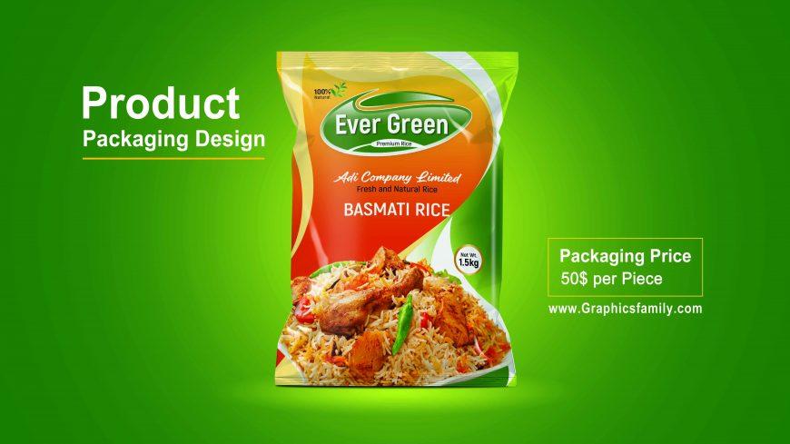 Editable Food Packaging Mock-Up