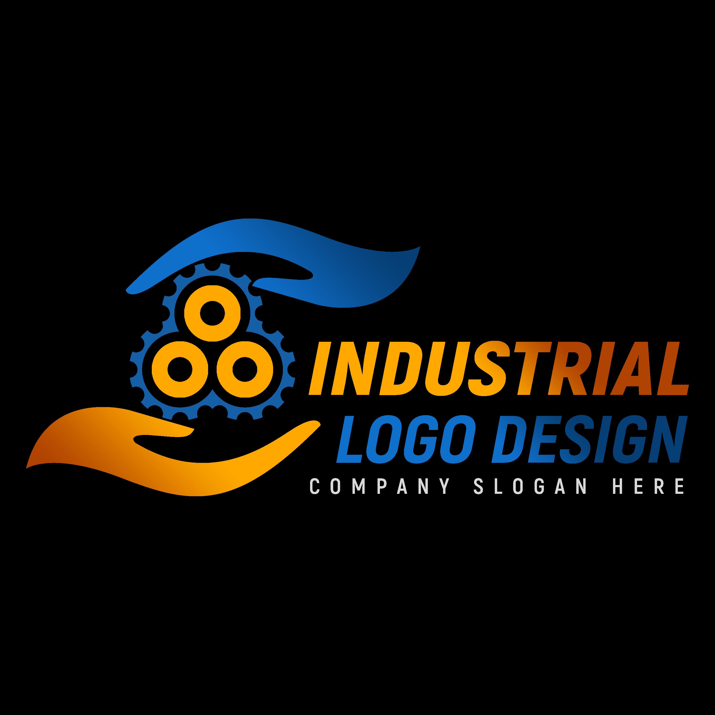 Editable Industrial Logo Design PNG transparent