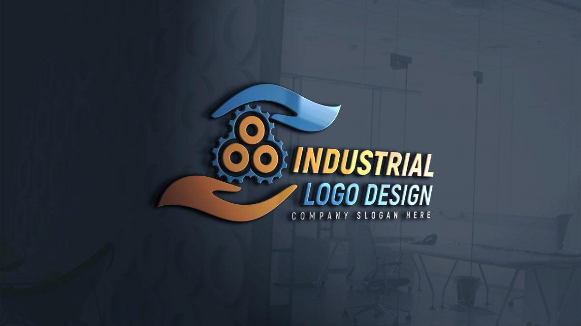 Editable Industrial Logo Design Template