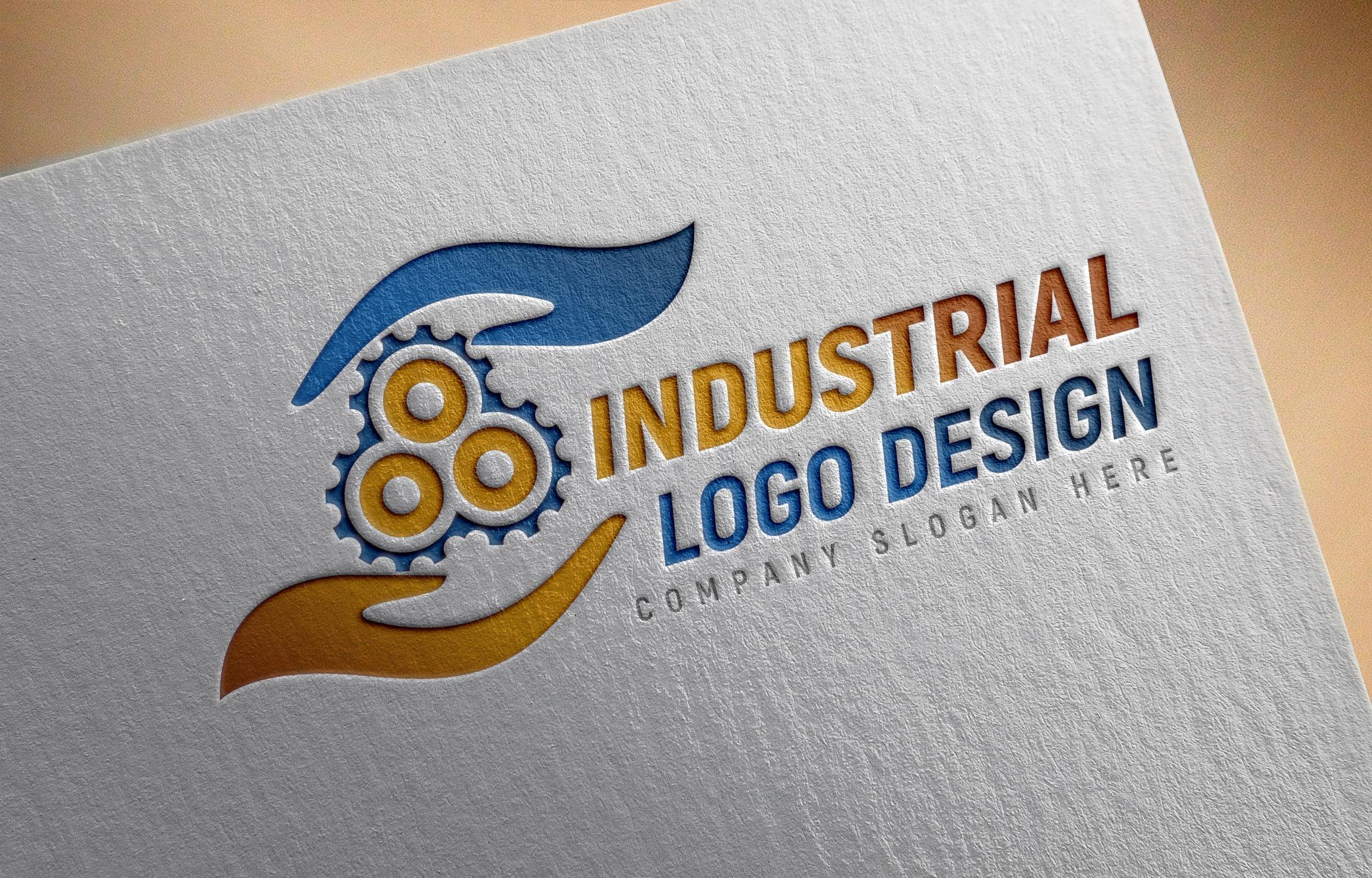 Editable Industrial Logo Design Template Download