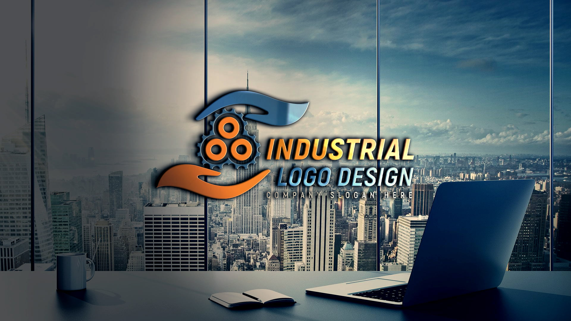Editable Industrial Logo Design by GraphicsFamily