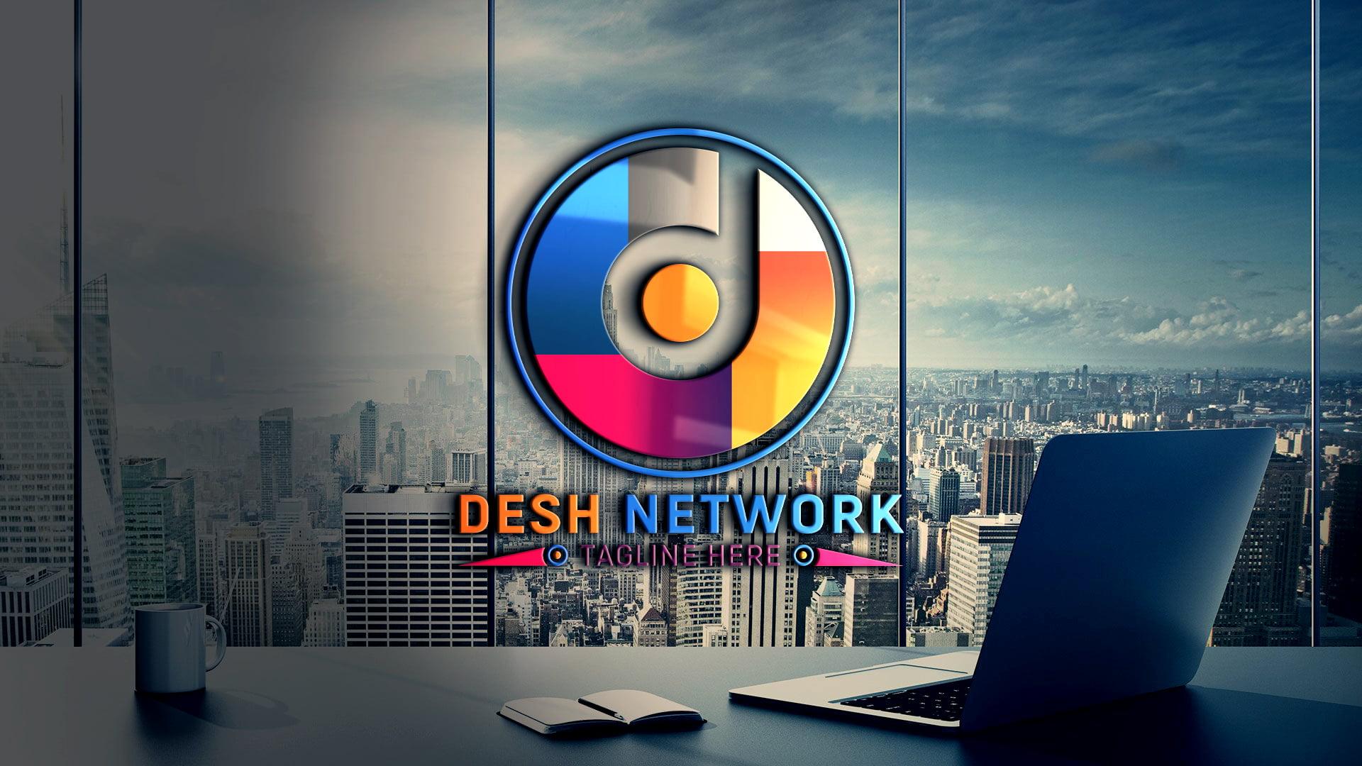 Editable Network Logo Design Template
