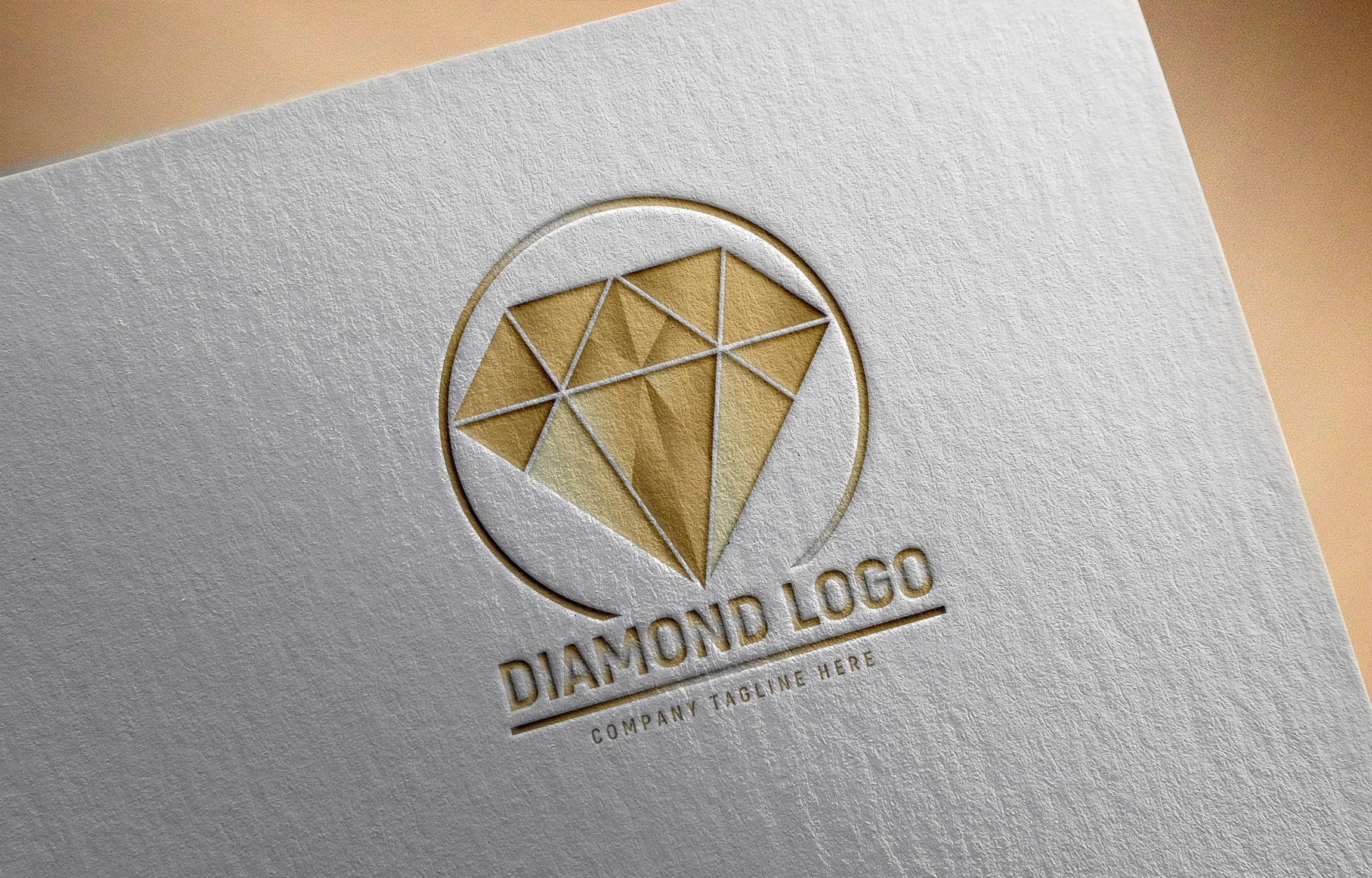 Editable Photoshop Diamond Logo Design