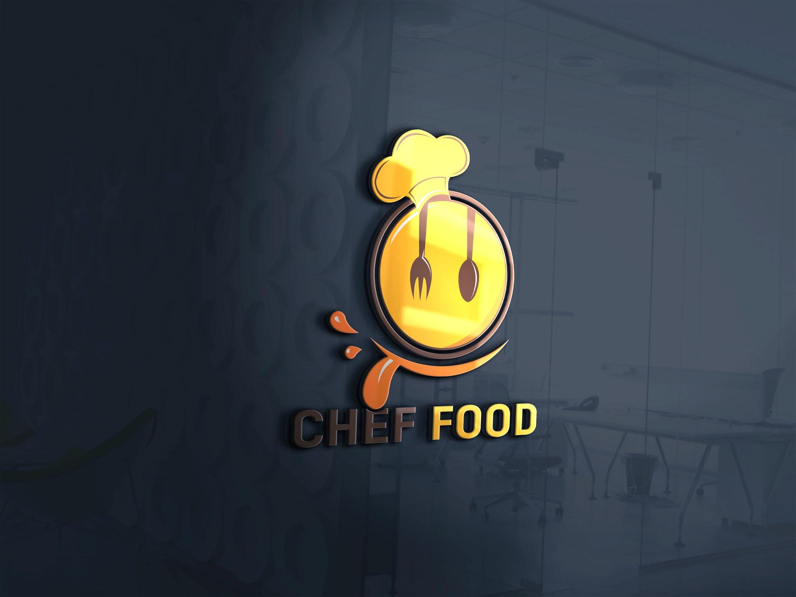 Editable Photoshop Food Logo Design Download