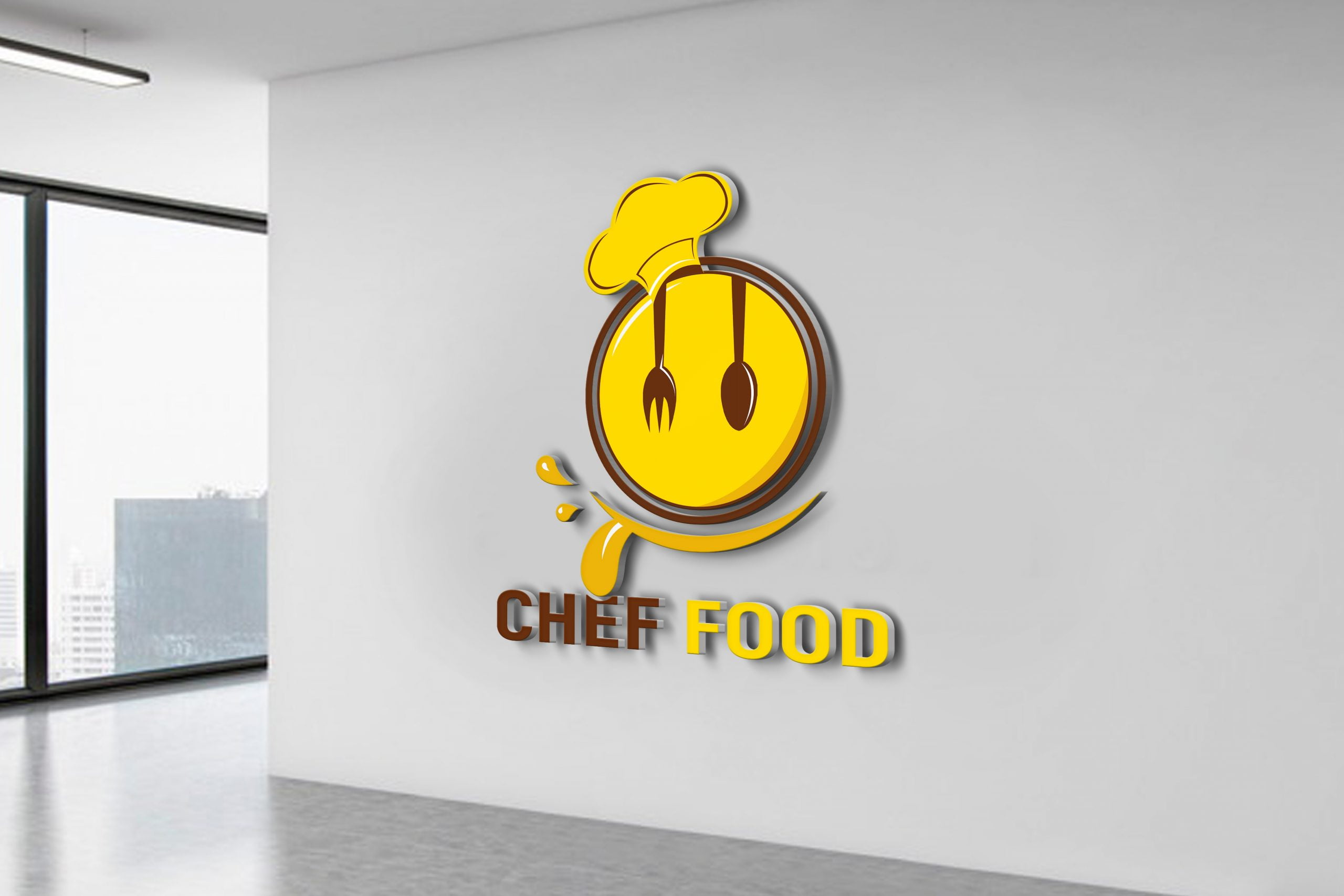 Editable Photoshop Food Logo Design by GraphicsFamily