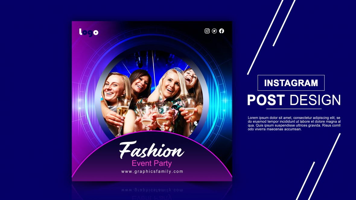 Fashion Design Event Free Instagram Post Design