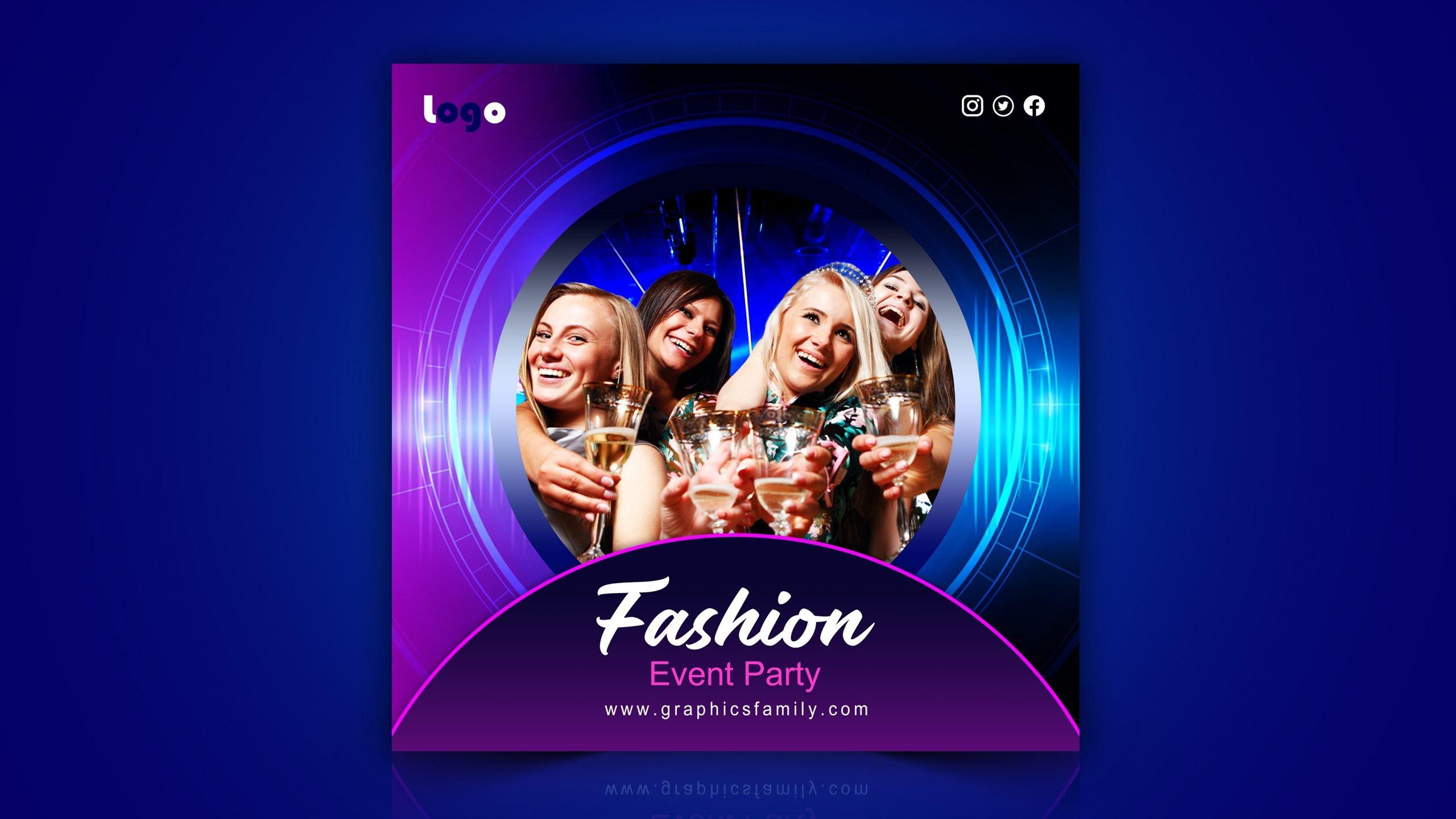 Fashion Design Event Free Instagram Post Design Download