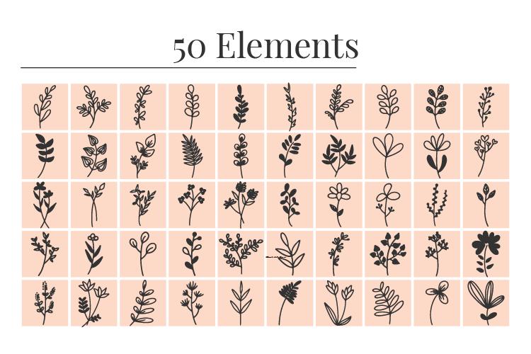 Floral Design Elements Bundle Vector Art Download