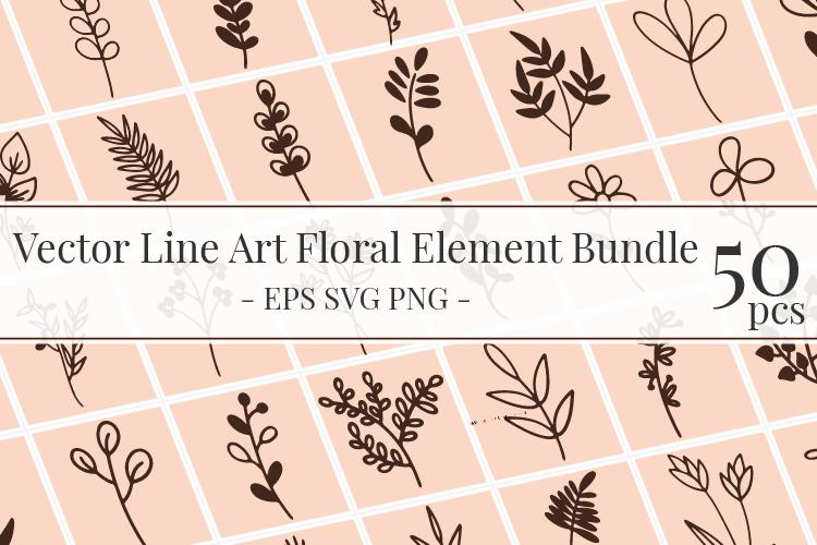 Floral Design Elements Bundle Vector Art