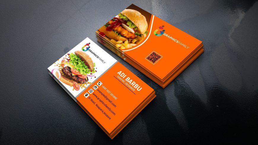 Food Company Visiting Card Design