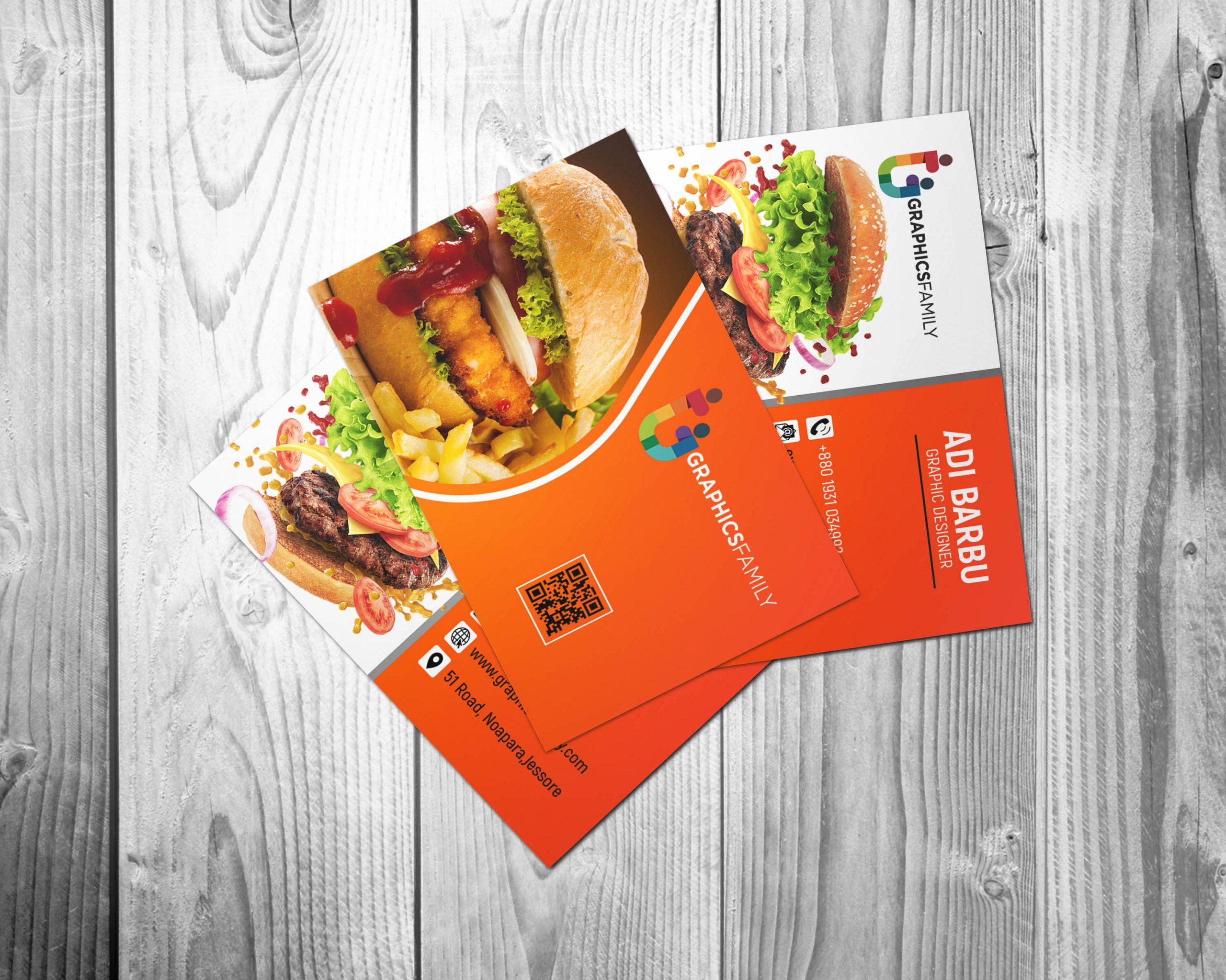 Food Company Visiting Card Design Download