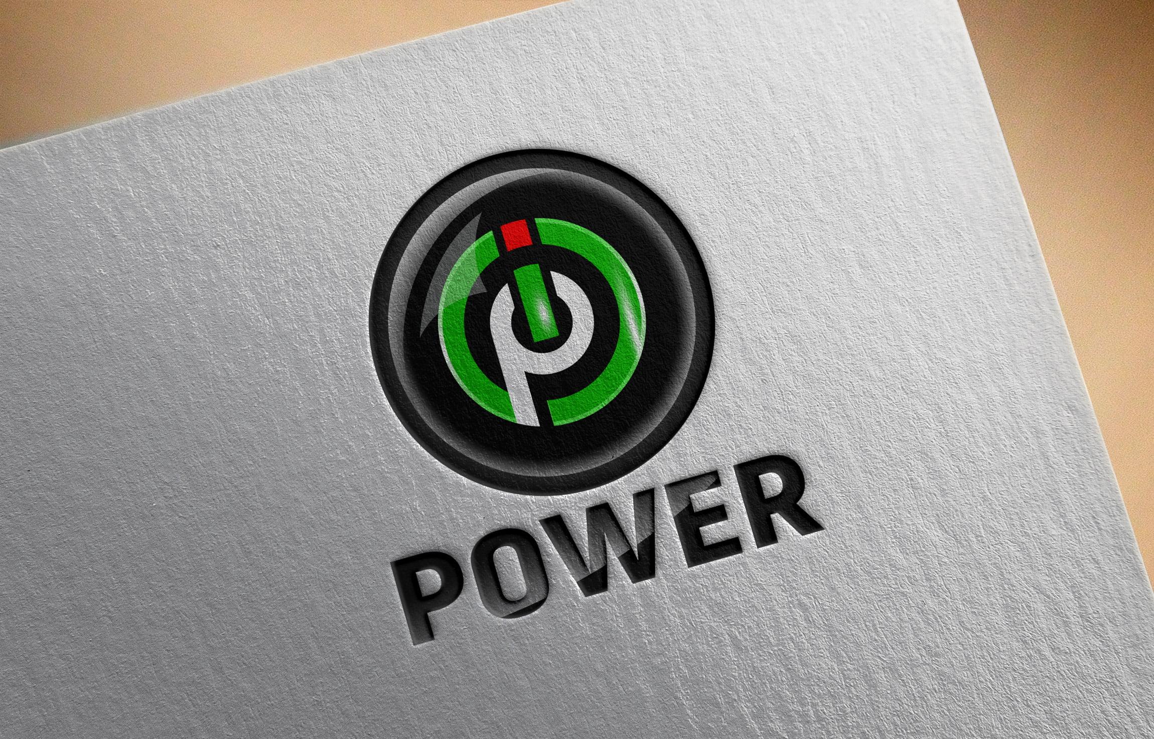 Free .PSD Power Logo Design