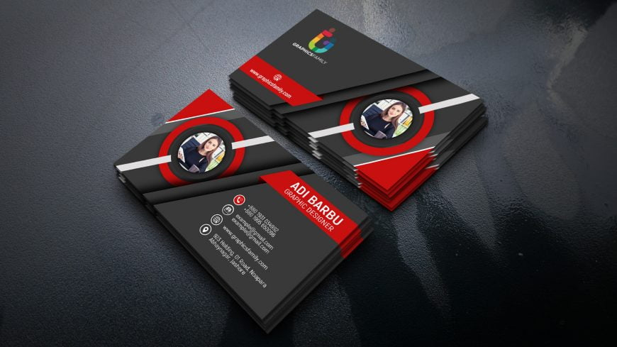 Free 3D Visiting Card Design in Photoshop