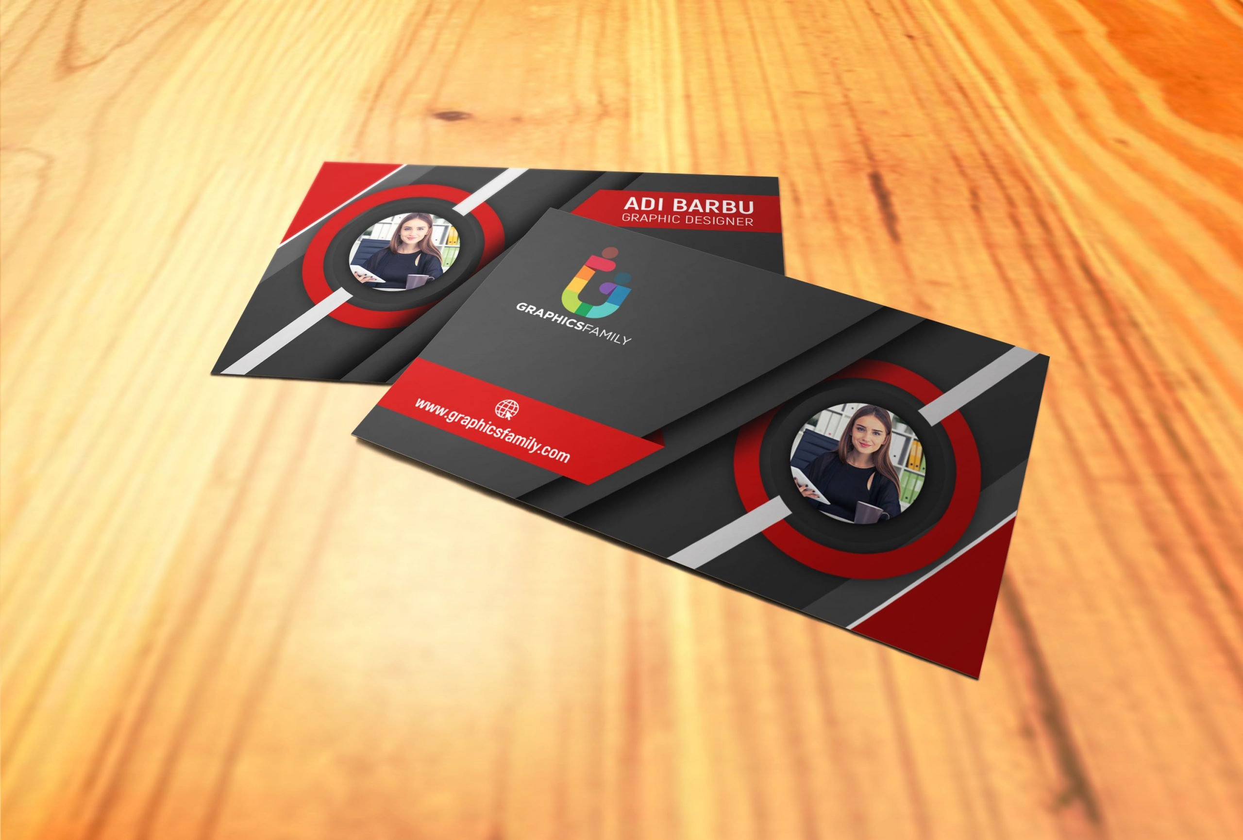 Free 3D Visiting Card Design in Photoshop Download