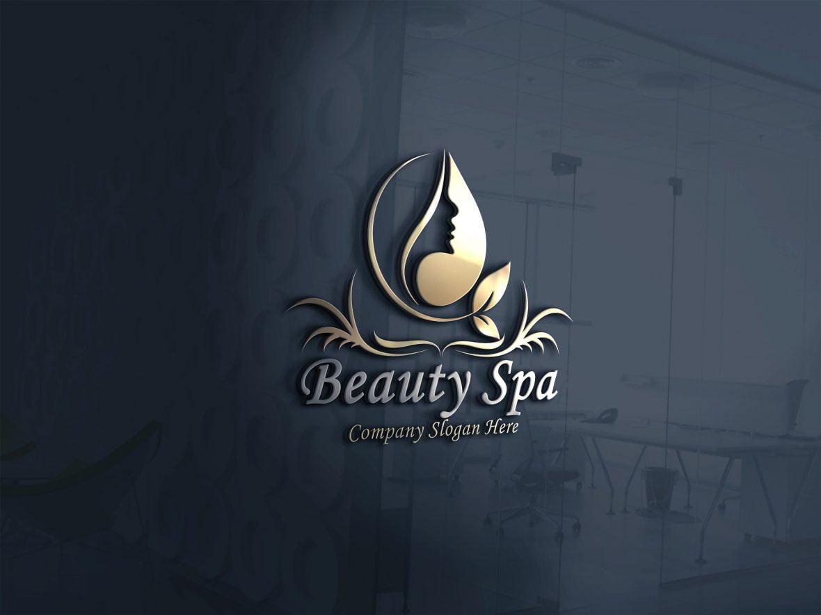 Free Beauty&Spa Logo Design PSD